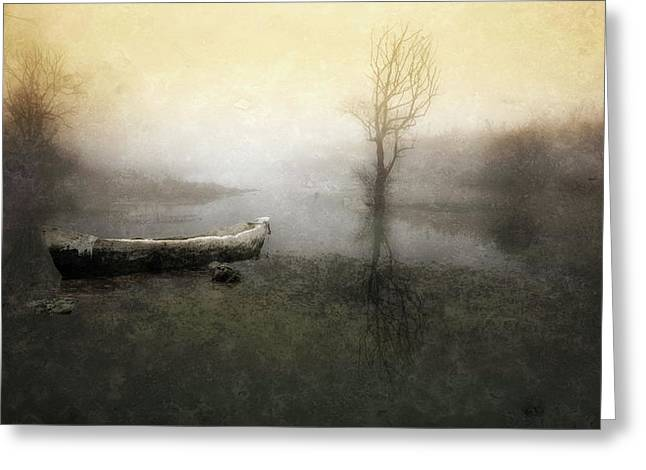 Take Me Down To My Boat In The River Greeting Card by Charlaine Gerber