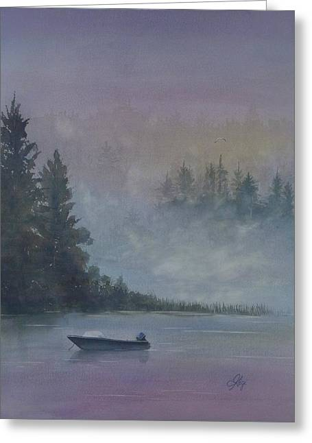 Greeting Card featuring the painting Take Me Fishing by Gigi Dequanne