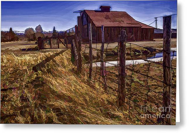 Take Me Home Country Road Greeting Card by Nancy Marie Ricketts