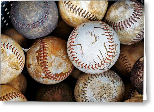 Take Me Out To The Ball Game Greeting Card by Jean Goodwin Brooks