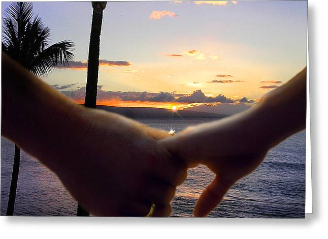 Take My Hand Greeting Card by Doug Kreuger