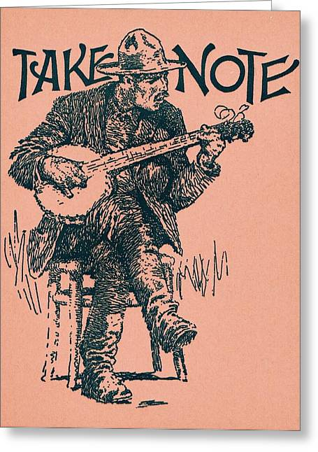 Take Note Greeting Card by Dale Michels