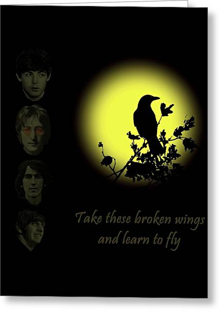 Take These Broken Wings And Learn To Fly Greeting Card by David Dehner