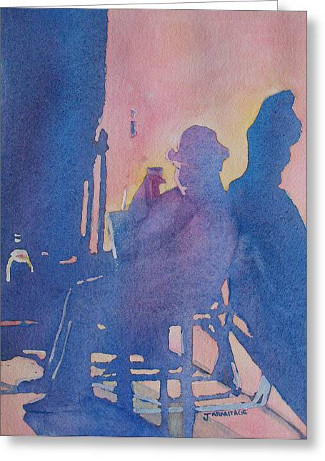 Taking Ten With My Shadow Greeting Card by Jenny Armitage