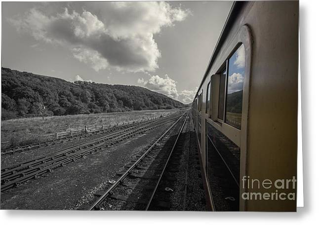 Taking The Train To Pickering Greeting Card by Chris Fletcher