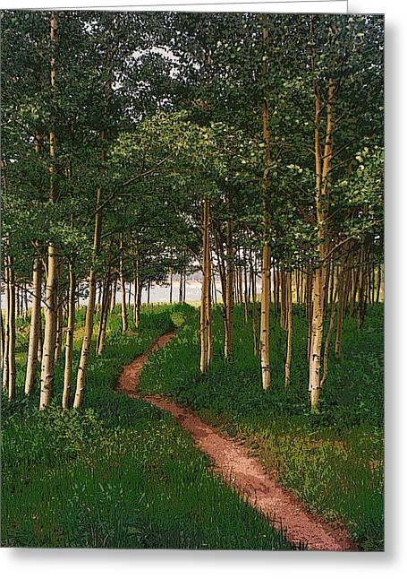 Taking Tthe Path Less Traveled Greeting Card by Carl Bandy