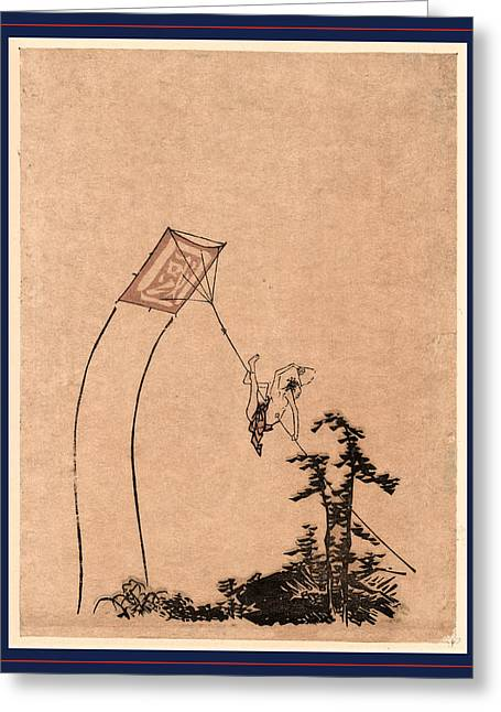 Tako Ni Noboru Otoko Greeting Card by Japanese School