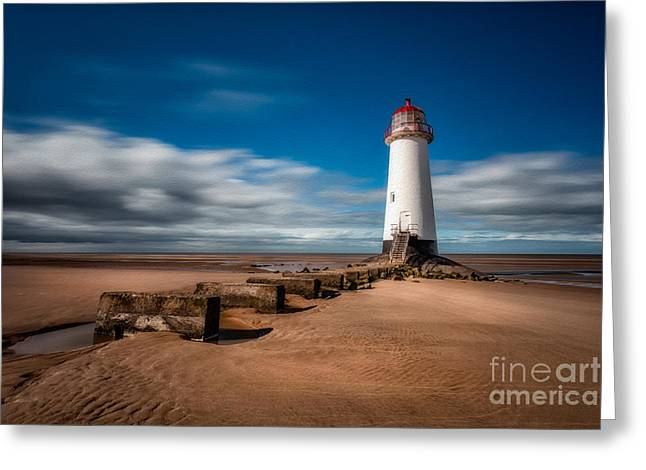 Talacre Beach Greeting Card by Adrian Evans
