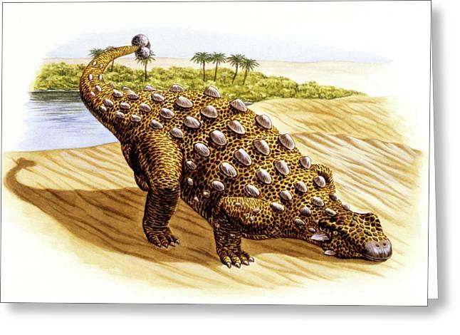 Talarurus Dinosaur Greeting Card