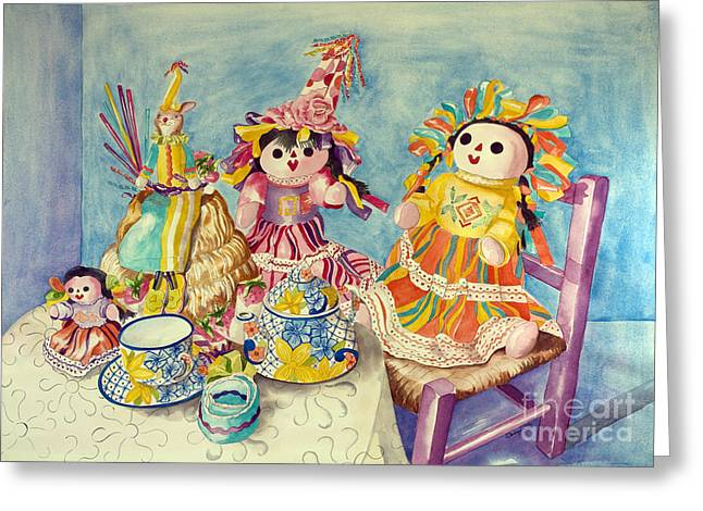 Talavera Tea With Friends Greeting Card