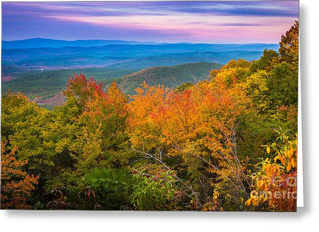 Talimena Autumn Vista Greeting Card by Inge Johnsson