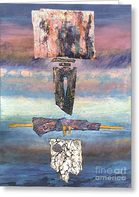 Greeting Card featuring the painting Talisman by Ursula Freer