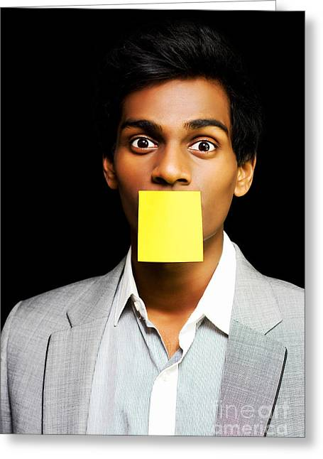 Talkative Forgetful Office Worker Greeting Card by Jorgo Photography - Wall Art Gallery