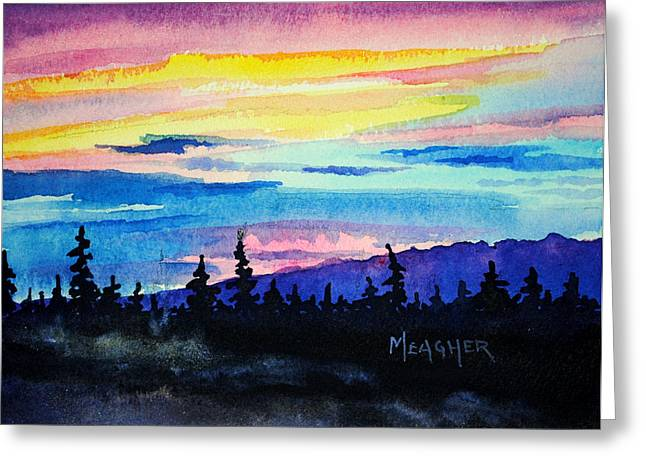 Talkeetna Lodge Alaska Greeting Card by Spencer Meagher