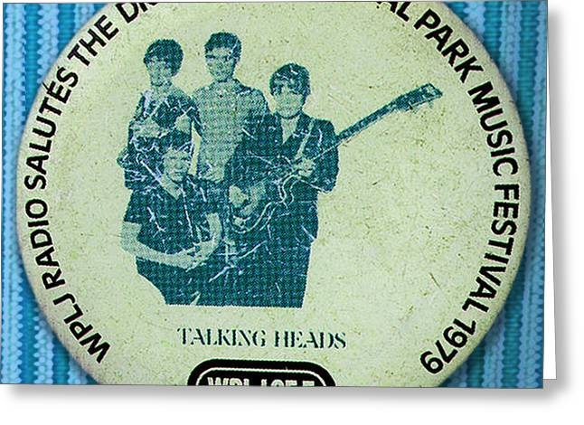 Talking Heads '79 Greeting Card by Del Gaizo
