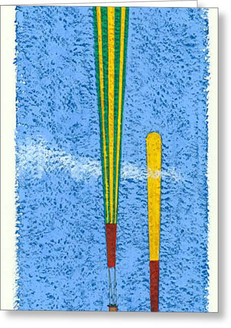 Tall Balloons One Greeting Card by Brian James