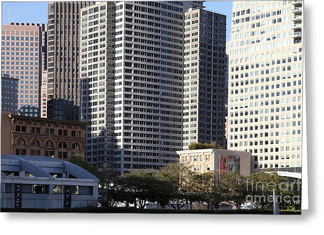 Tall Buildings Of San Francisco - 5d20505 Greeting Card by Wingsdomain Art and Photography