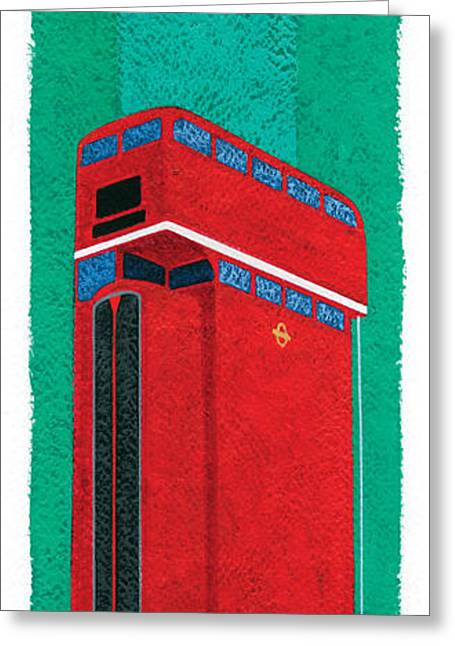 Tall Bus Greeting Card by Brian James