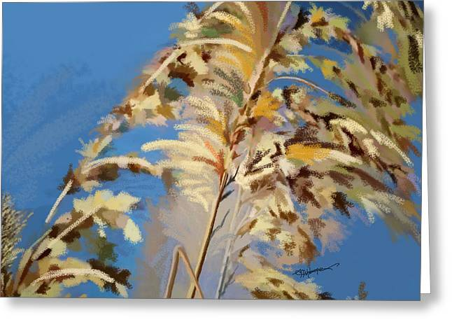 Greeting Card featuring the digital art Tall Grass Mix by Anthony Fishburne
