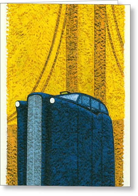 Tall London Taxi Greeting Card by Brian James