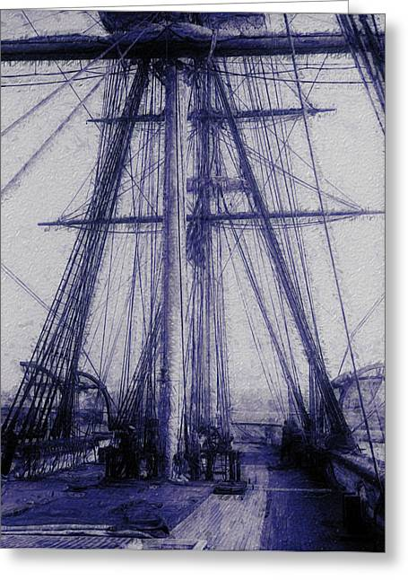 Tall Ship 2 Greeting Card by Jack Zulli