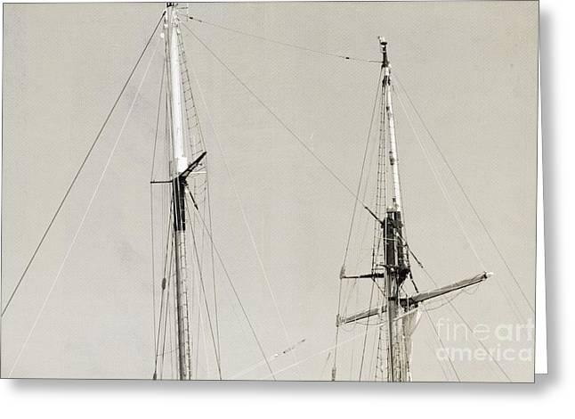 Tall Ship At Dock Greeting Card