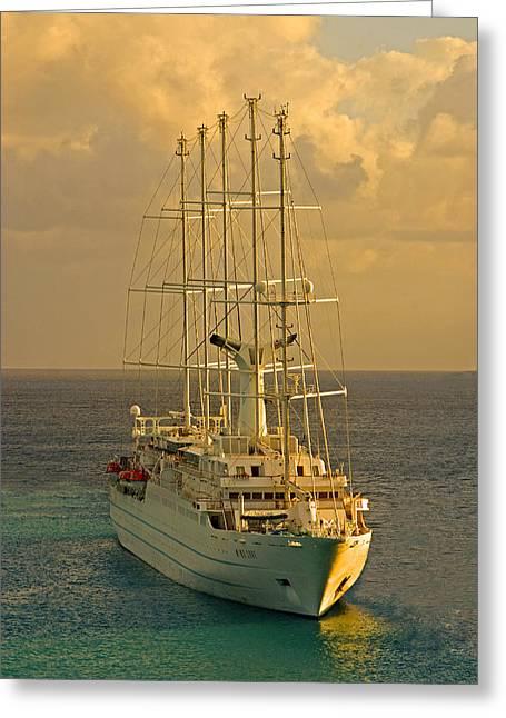 Tall Ship Cruise Greeting Card