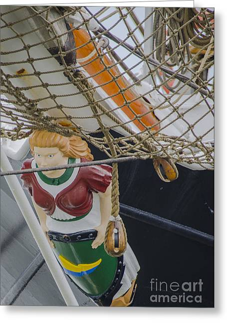 Greeting Card featuring the photograph Tall Ship Gunilla Masthead by Dale Powell