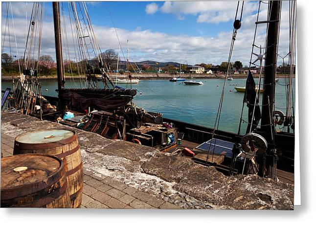 Tall Ship Keeywaydin , Dungarvan Greeting Card by Panoramic Images