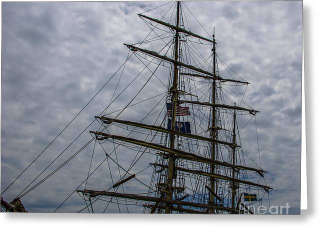 Sailing The Clouds Greeting Card by Dale Powell