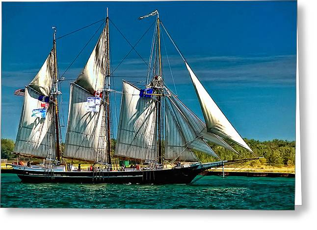 Tall Ship Greeting Card by Steve Harrington