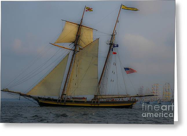 Greeting Card featuring the photograph Tall Ships by Dale Powell