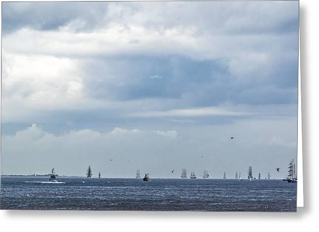 Tall Ships' Exodus Greeting Card