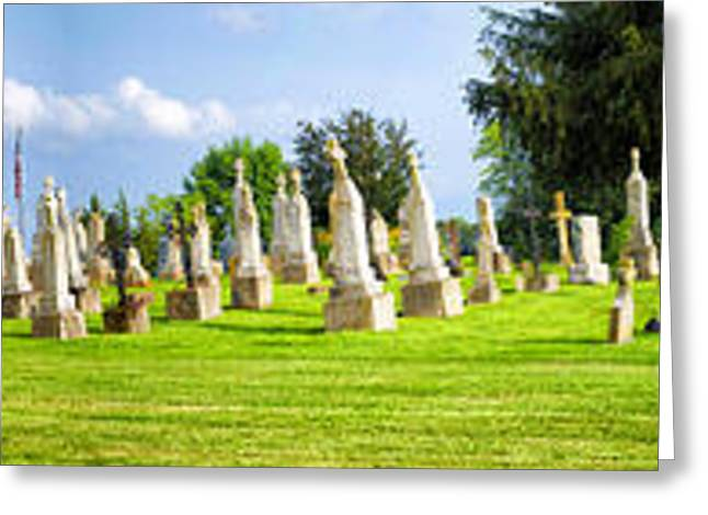 Tall Tombstones Panorama Greeting Card by Thomas Woolworth