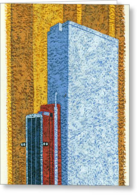 Tall Truck Greeting Card by Brian James