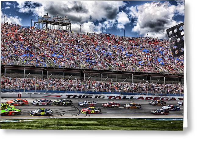 Talladega Superspeedway In Alabama Greeting Card