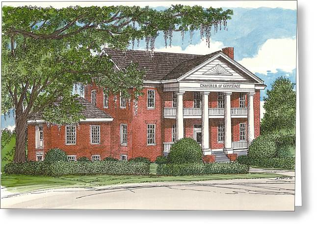 Tallahassee Chamber Of Commerce Greeting Card by Audrey Peaty