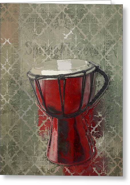 Tam Tam Djembe - 083134085 Greeting Card by Variance Collections