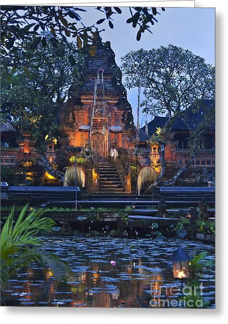 Taman Saraswati Temple Bali Greeting Card