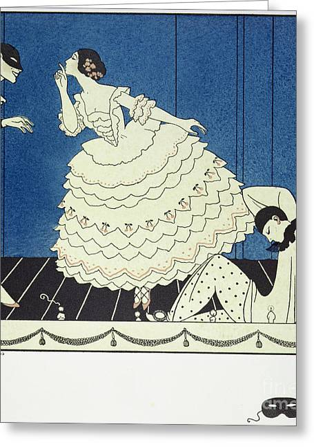 Tamara Karsavinaas Columbine Greeting Card by Georges Barbier