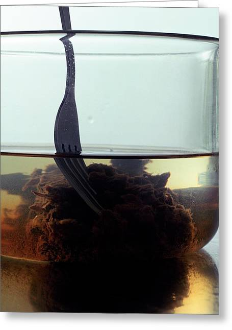 Tamarind Powder Floating In Water Greeting Card
