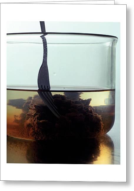 Tamarind Powder Floating In Water Greeting Card