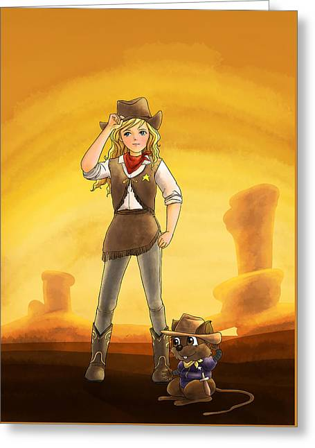 Tammy And Alfred Tame The West Greeting Card