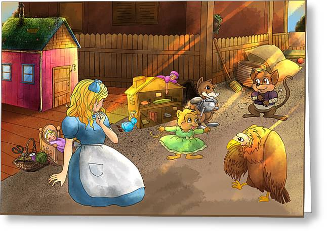 Tammy And Friends In The Backyard Greeting Card