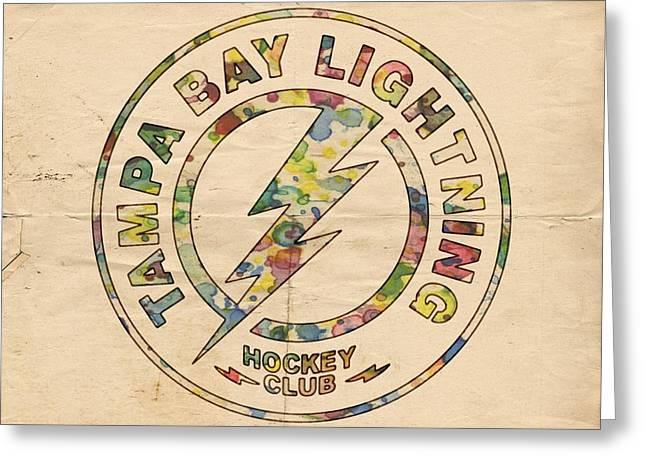 Tampa Bay Lightning Logo Art Greeting Card by Florian Rodarte