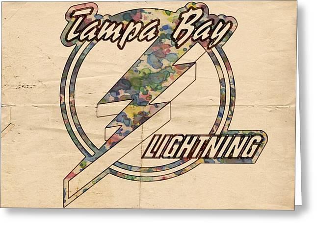 Tampa Bay Lightning Vintage Poster Greeting Card