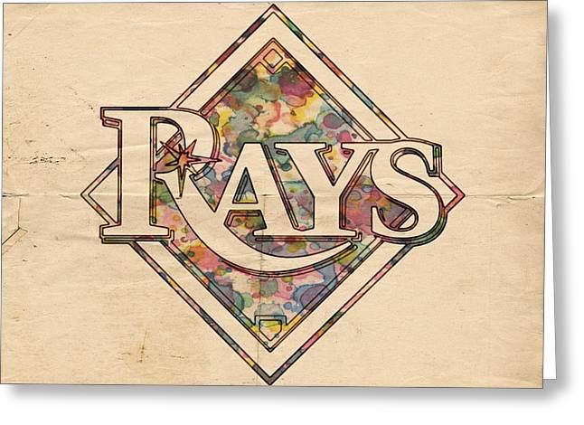 Tampa Bay Rays Vintage Art Greeting Card by Florian Rodarte
