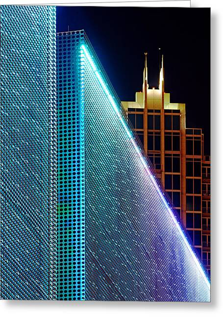 Greeting Card featuring the photograph Tampa Museum Of Art At Night by Daniel Woodrum
