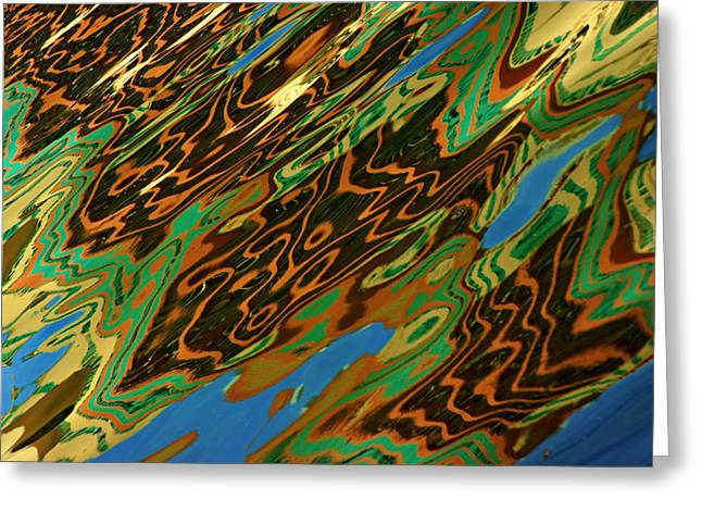 Greeting Card featuring the photograph Tampa Reflection Abstract IIi by Daniel Woodrum