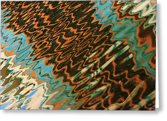 Greeting Card featuring the photograph Tampa Reflection Abstract Iv by Daniel Woodrum